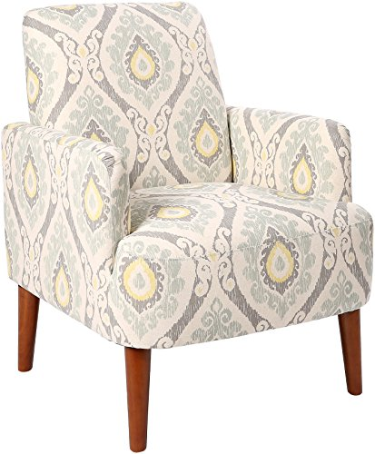 Homelegance Lapis Medallion Print Fabric Accent Chair, Gray ()