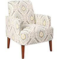 Homelegance Roper Contemporary Medallion Printed Fabric Accent Chair, Gray