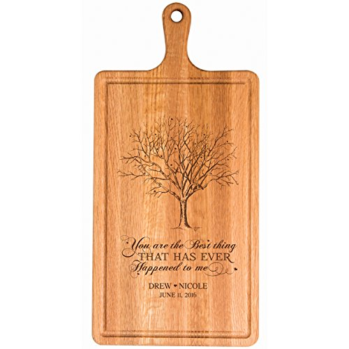 Personalized Cherry Cutting Board You are the Best thing First Names and Date for bride and groom Wedding Anniversary Gift Ideas for Him, Her, Couples Established Dates to Remember 15.75