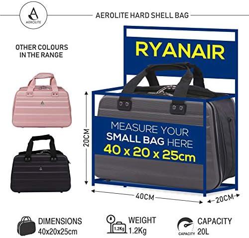 Aerolite noviembre Nuevo Ryanair 40x20x25 Tamaño máximo de la Cabina del Equipaje del Bolso Bolso de Viaje de Vuelo (Armada)