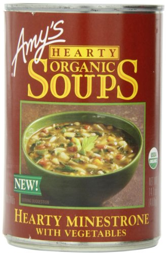 Amy's Hearty Organic Soups, Minestrone with Vegetables, 14.1 Ounce (Pack of 12)