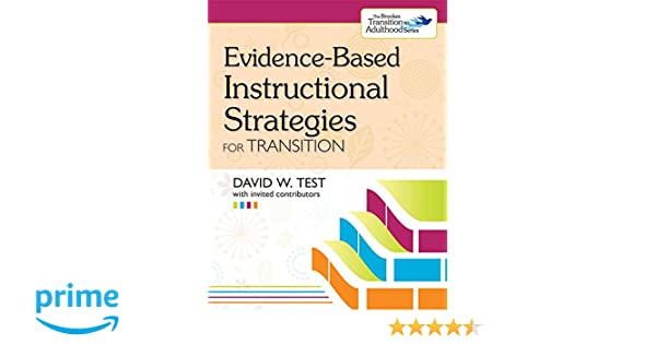 Amazon Evidence Based Instructional Strategies For Transition