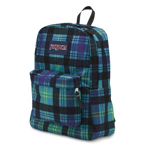JanSport Classic SuperBreak Backpack (Mammoth Blue Preston (Jansport Plaid Backpack)