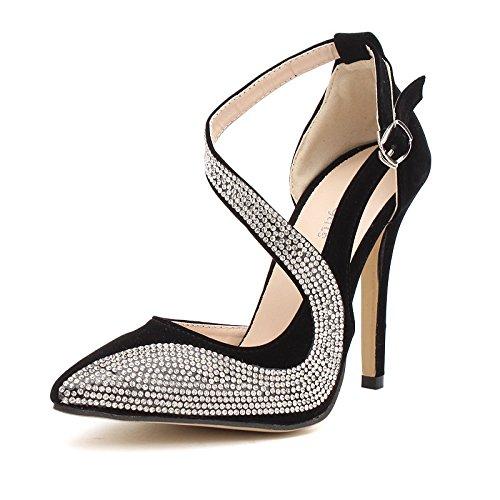 agua de Los como y el nocturnos tacón zapatos black América elegante de de de perforación clubes ultra Europa alto TTpPr
