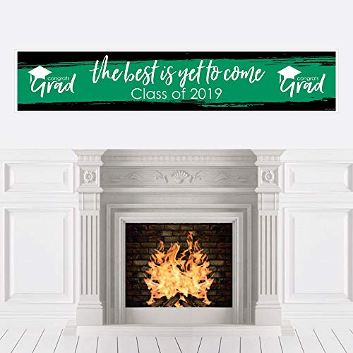 Green Grad - Best is Yet to Come - Green 2019 Graduation Party Decorations Party Banner -