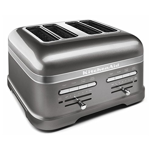 KitchenAid KMT4203MS Pro Line Series Medallion Silver 4-Slice Automatic Toaster