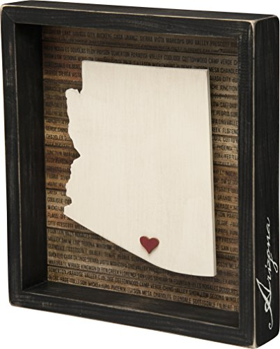 Arizona State Shape Box Sign Primitives by Kathy