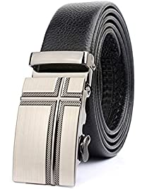 belt for men designer 5j3k  ITIEZY Men's Leather Belt Ratchet Automatic Buckle Sliding Buckle Belt  Man Designer Black Luxury