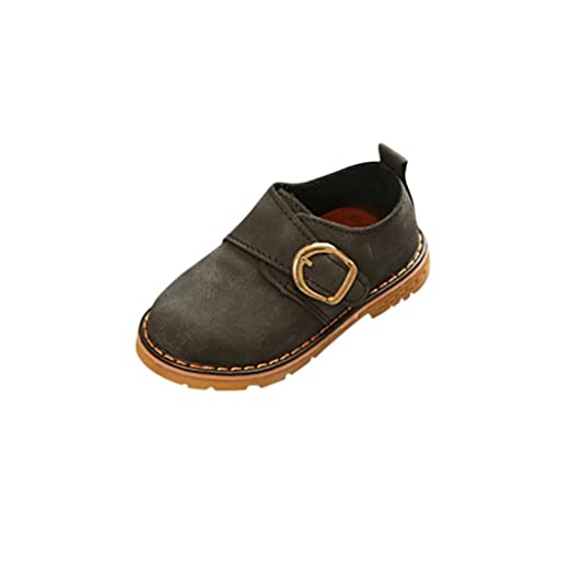 a7261b7c6a64e Amazon.com: KONFA Teen Baby Boys Girls Buckle Martin Shoes,for 1-6 ...
