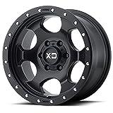 XD Series by KMC Wheels XD131 RG1 Satin Black Wheel (17x8/8x180, 0mm Offset)