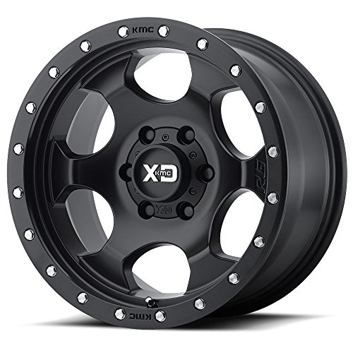 XD Series by KMC Wheels XD131 RG1 Satin Black Wheel (17x8.5/6x139.7, +25mm Offset)