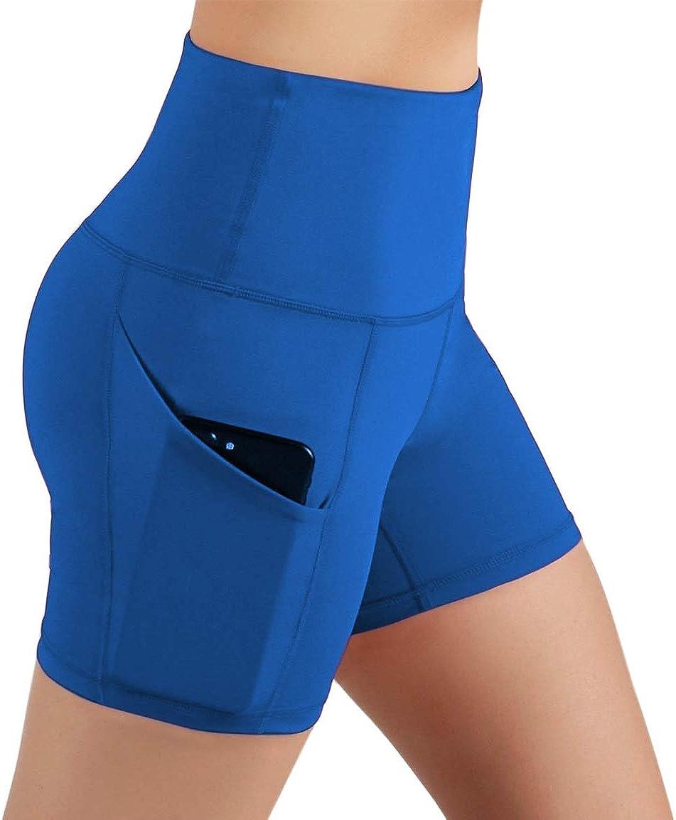 Pau1Hami1ton Damen Hohe Taille Yoga Sporthose Shorts Capri Fitness D/ünne Hosen Schnell Trocknende Trainieren mit Taschen Elastische Tanzen Workout Leggings GP-00
