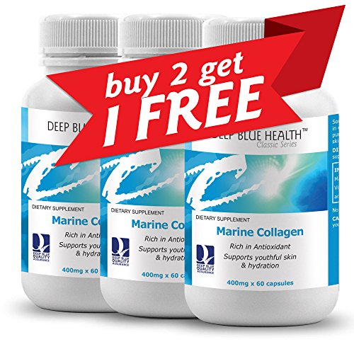 Deep Blue Health Classic Marine Collagen 400mg - Buy 2 Bottles Get 3rd Bottle FREE by Deep Blue Health Classic