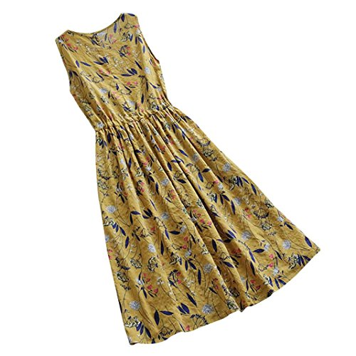 Spbamboo Women Casual Long Maxi Sundress Beach Party Boho Floral Print Dress by Spbamboo