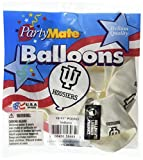 Pioneer Balloon Company 10 Count University of Indiana Latex Balloon, 11'', Multicolor