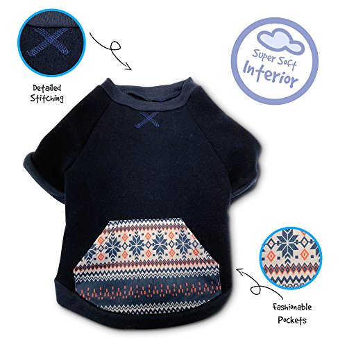 Pet Craft Supply 8966 Pullover Sweater, Small, Navy