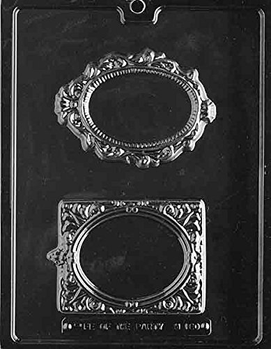 Fancy Picture Frames - Chocolate Mold - M180 - Includes Melting & Chocolate Molding Instructions