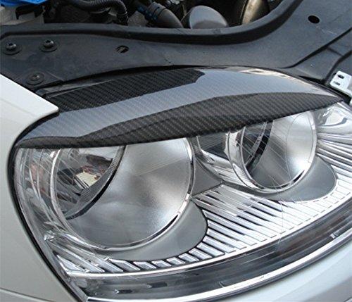 2 St/ück Karbonfaser-Abdeckung f/ür Scheinwerfer Augenbrauen