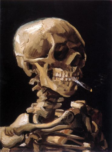 Artifact Puzzles - Van Gogh Smoking Skull Wooden Jigsaw Puzzle