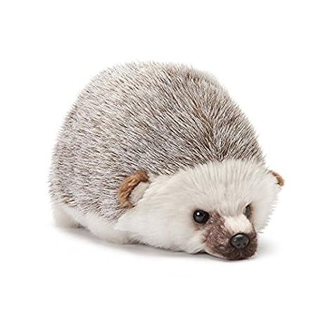Nat and Jules Huddled Small Hedgehog Wispy Chestnut Children's Plush Stuffed Animal DEMDACO N00310