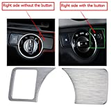(Only Fits for Right Side without Button) 2010-2015 for Mercedes Benz E-Class W212 E200 E250 E300 E350 Left Hand Drive Head Light Switch Button Cover Trim 2pcs
