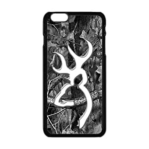 Browning Pattern Fashion Comstom Plastic case cover For Iphone 6 Plus by runtopwell