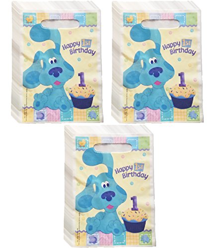 Blues Clues Happy 1st Birthday Treat Bags Pack of 24 (Bags Blues Clues Treat)