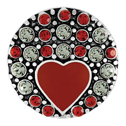 Ginger Snaps Kiss Heart SN01-22 (Standard Size) Interchangeable Jewelry Accessories