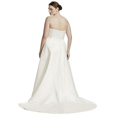 Plus Size Wedding Dress with Beaded Lace Jacket Style 9V8835, Ivory ...