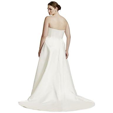 Plus Size Wedding Dress With Beaded Lace Jacket Style 9V8835, Ivory, 24W