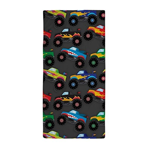 CafePress - Cool Monster Trucks Pattern, Colorful Kids Beach
