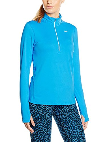 Women's Nike Dry Element Running Top - Light Photo Blue/Heather - Size Large