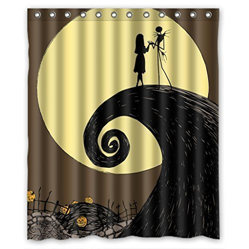 Halloween Nightmare Before Christmas Waterproof Shower Curtain 60