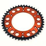 3 16 rivet washers - JFG RACING CNC 48T Rear Chain Sprocket - KTM EXC380 98-02 XCW400 USA10 EXC Enduro 01-11 LC4 400 Enduro 97-01 Duke 400 95-96 MXC400 01-02 SX400 USA98 EXC450 03-16 RR450 14 - Orange