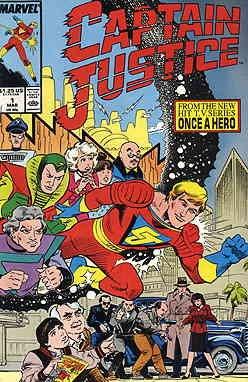Captain Justice #1 VF/NM ; Marvel comic book