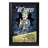 Be Smart Be Safe Enjoy Vault Life Decorative Wall Plaque Key Leash Coat Jewlery Hook Holder Hanger 8'' X 6''