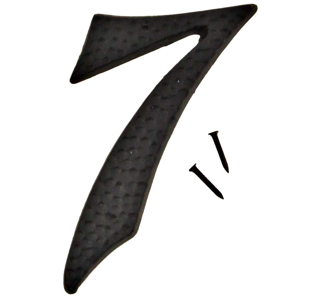 Hy-Ko Products DC-5/7 Die Cast Aluminum House Number 7 (SEVEN) 4.5'' High, Black, 1 Piece