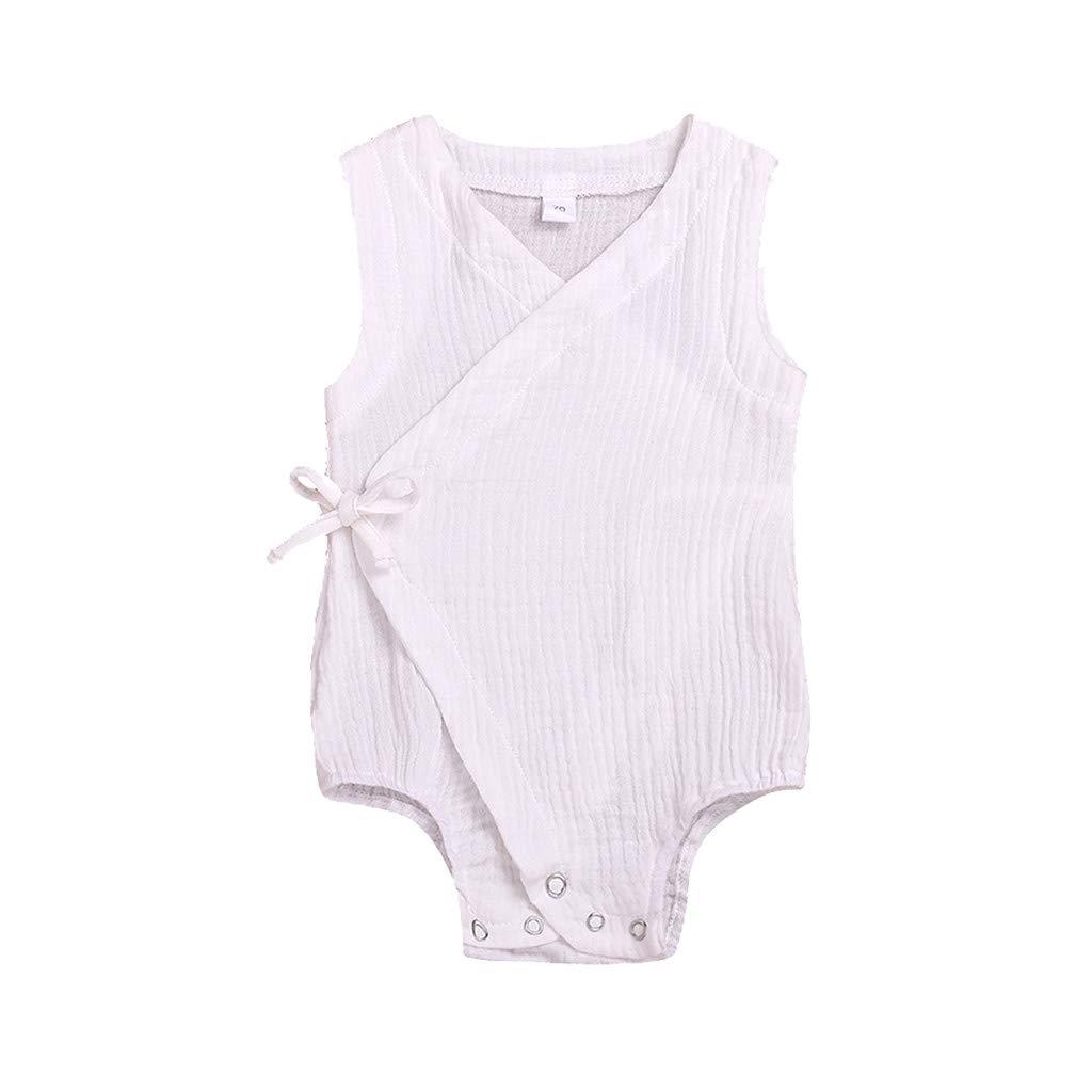 Sommer Baby Jungs M/ädchen /Ärmellos Solide Strampler Overall