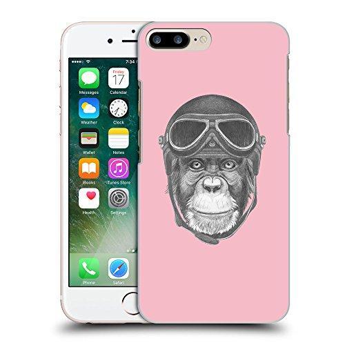 GoGoMobile Coque de Protection TPU Silicone Case pour // Q05290630 Pilote singe Rose // Apple iPhone 7 PLUS