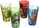 Silver Buffalo PX031P1 Disney Pixar Characters Pint Glass Set, 4-Pack