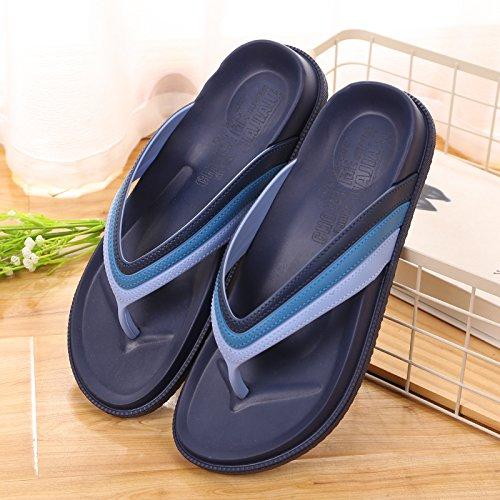 Summer Men 's Casual zapatillas de playa,41 Verde 43 azul profundo