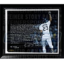 Kirk Gibson Facsimile '88 Game Winning HR' Stretched Framed 22x26 Story Canvas