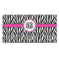YouCustomizeIt Zebra Print Wall Mounted Coat Rack (Personalized)