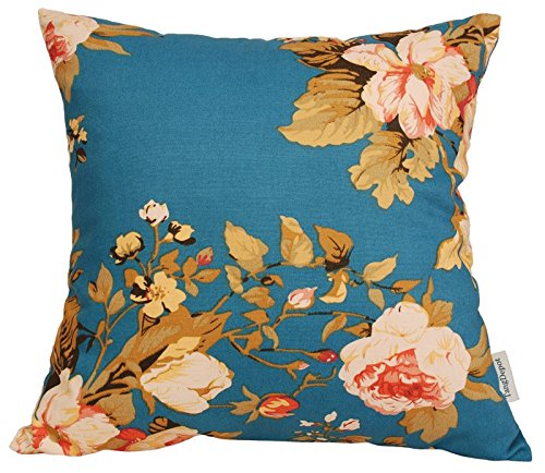 TangDepot174; 100% Cotton Floral/Flower Printcloth Decorative Throw Pillow Covers /Handmade Pillow Shams - Many Colors, Sizes Avaliable - (12