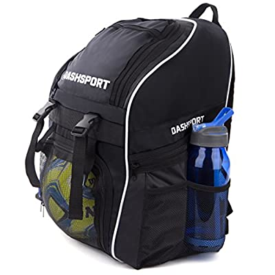 Soccer Backpack - Basketball Backpack - Youth Kids Ages 6 and Up - With Ball Compartment - All Sports Bag Gym Tote Soccer Futbol Basketball Football Volleyball