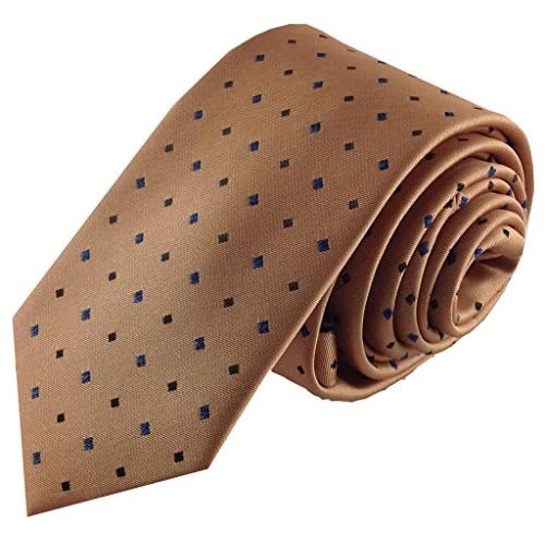 Boys Self Tie Necktie Orange with Blue and Black Accents Design