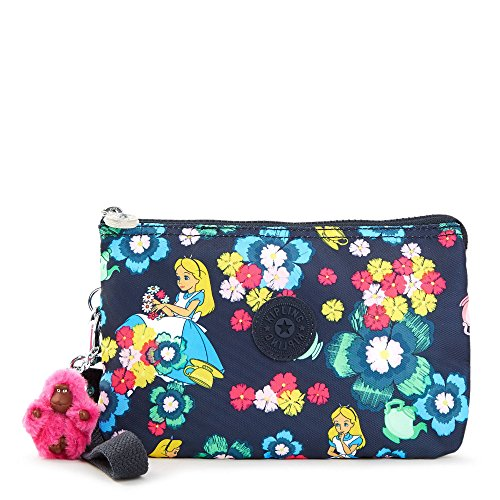 Kipling Disney Alice in Wonderland Collection Creativity Xl Printed Pouch, Tea Rose by Kipling
