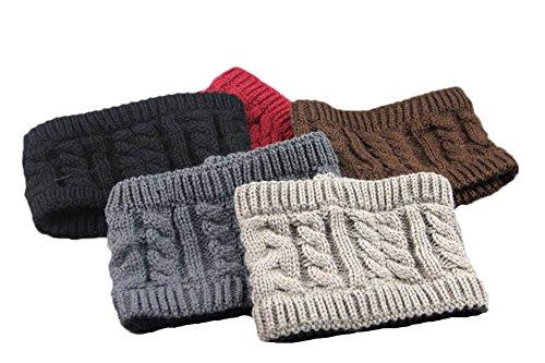 I'MQueen Girl's Knitted Bow Headband Crochet Hairband Winter Ear Warmer Headwrap