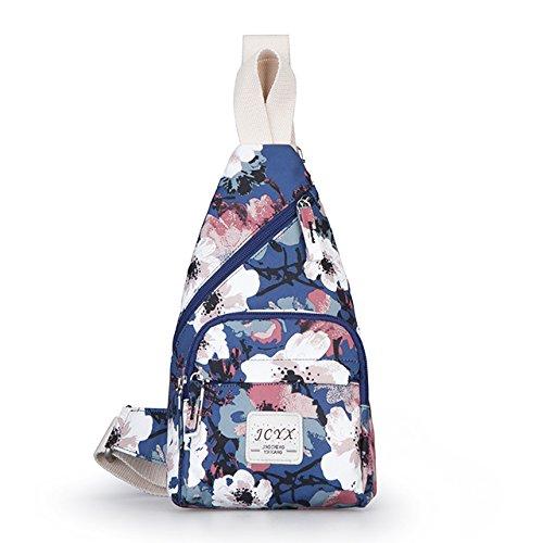 BMKWSG Dos Un épaule Bandoulière pour Femme Sac Style Blanc avec Plein Sac Sling de Léger bleu et Homme de à air Contemporain Sports Poitrine Décontracté rf8drxn6