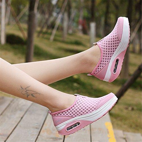 tamaño de la correr aumento Shoe Tulle Do Mesh transpirable de altura mujer Spring Summer Slip zapatillas de SHINIK Casual las Zapatos Shake Mesh On de de gran q1Cc4